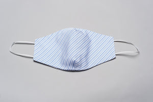 Fashion Mask Light Blue Pinstripe