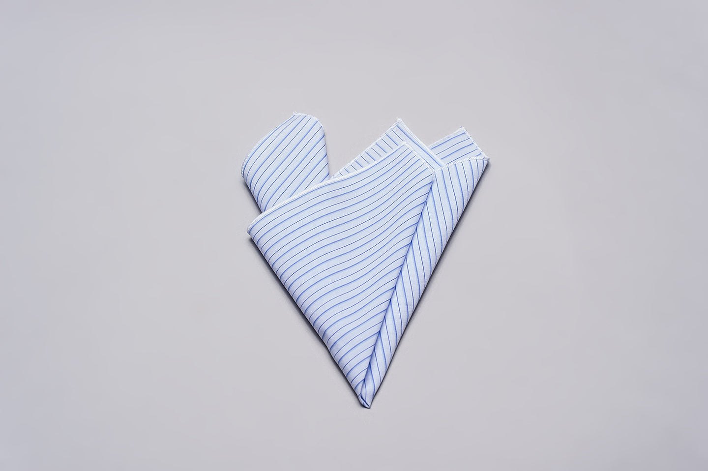 Pocket Square Light Blue Pinstripe