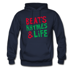 Beats Rhymes Hoody - navy