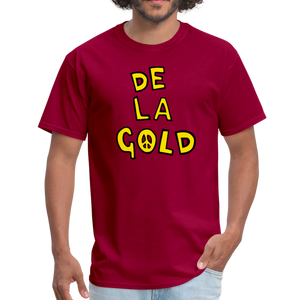 De La Gold T-shirt - dark red