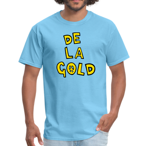 De La Gold T-shirt - aquatic blue