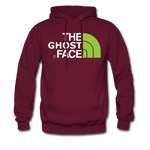 The Ghost Face Hoodie - burgundy