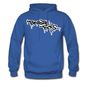Beastie Boys Graffit Tag Hoodie - royal blue