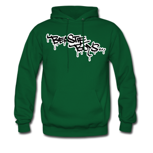 Beastie Boys Graffit Tag Hoodie - forest green