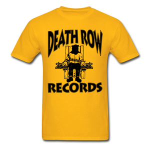 Death Row Records T-Shirt - gold