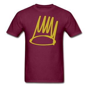 Born Sinner Crown T-Shirt - burgundy