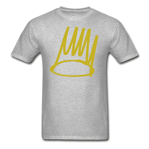 Born Sinner Crown T-Shirt - heather gray