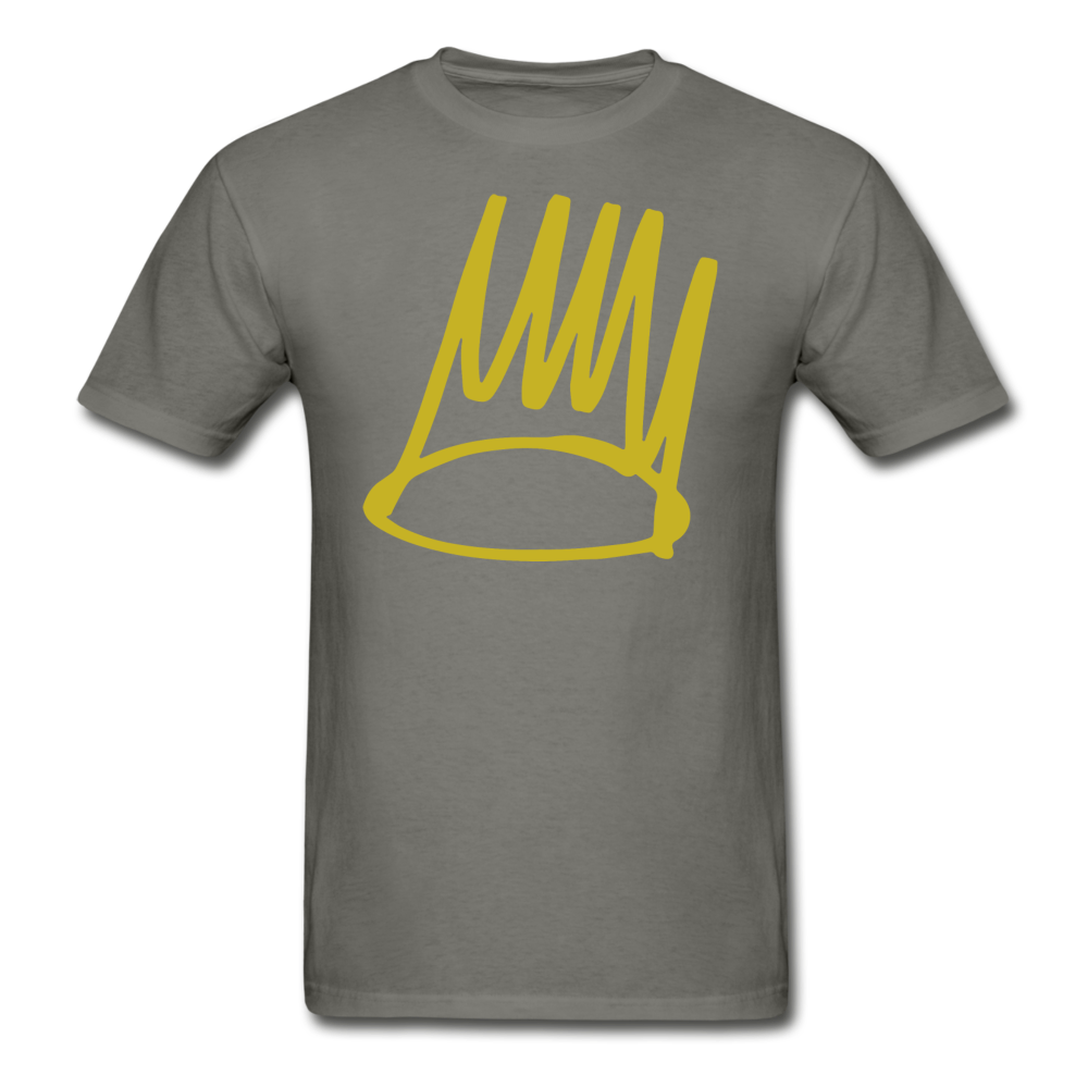 Born Sinner Crown T-Shirt - charcoal