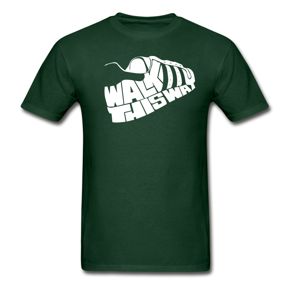 Walk This Way T-Shirt - forest green