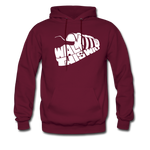Walk This Way Hoodie - burgundy