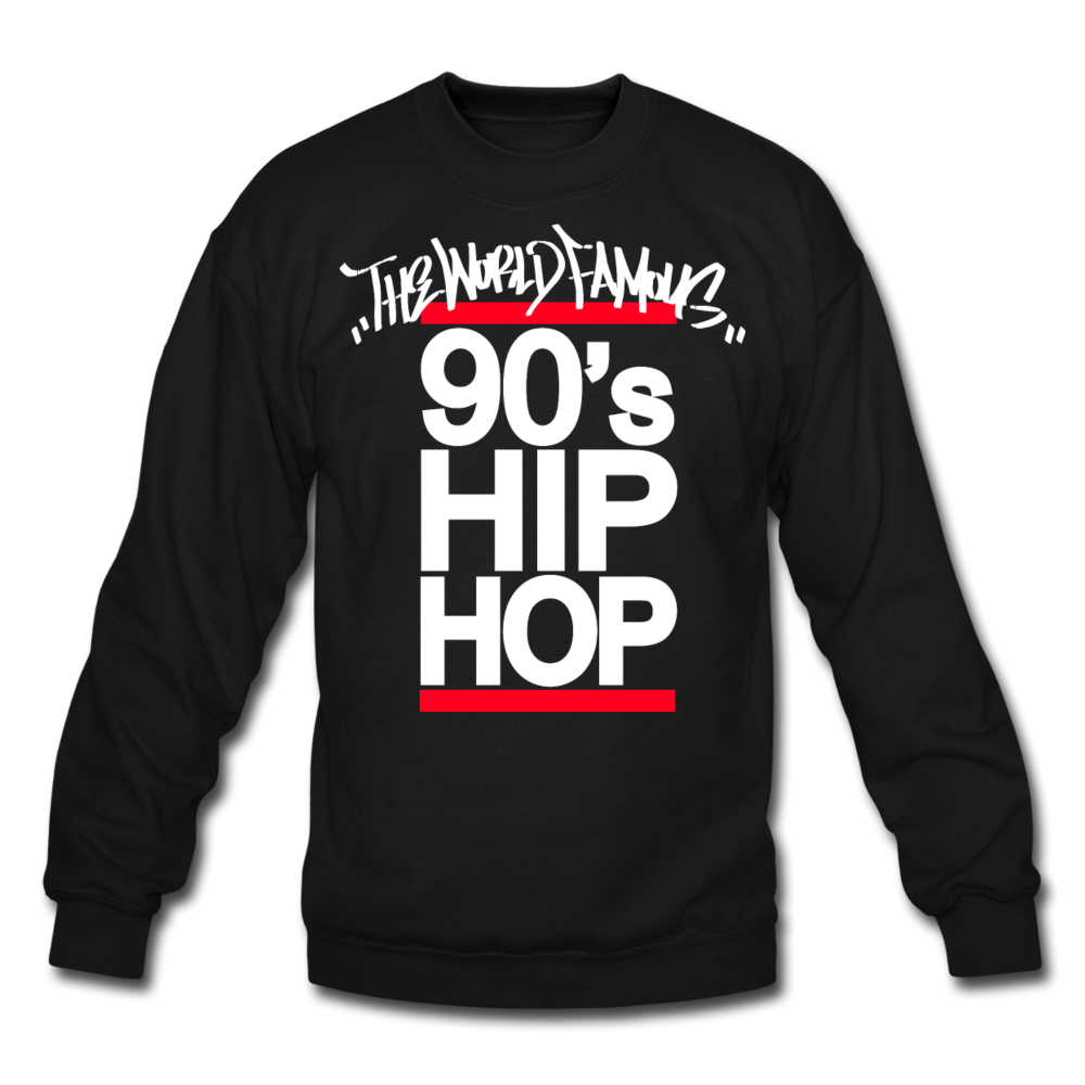 90s Hip Hop Crewneck Sweatshirt - black