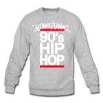 90s Hip Hop Crewneck Sweatshirt - heather gray