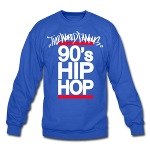 90s Hip Hop Crewneck Sweatshirt - royal blue