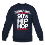 90s Hip Hop Crewneck Sweatshirt - navy