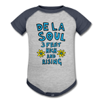 De La Soul Baseball Baby Bodysuit - heather gray/navy