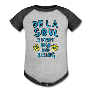De La Soul Baseball Baby Bodysuit - heather gray/charcoal