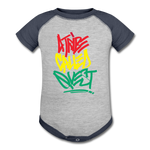 A Tribe Called Quest Baseball Baby Bodysuit - heather gray/navy