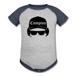 Eazy E Baseball Baby Bodysuit - heather gray/navy