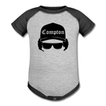 Eazy E Baseball Baby Bodysuit - heather gray/charcoal