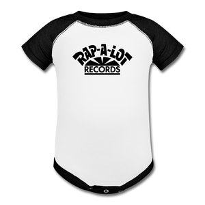 Rap A Lot Records Baseball Baby Bodysuit - white/black