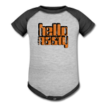 Hello Nasty Baseball Baby Bodysuit - heather gray/charcoal