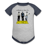 Sabotage Baseball Baby Bodysuit - heather gray/navy