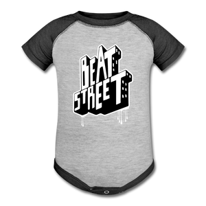 Beat Street Baseball Baby Bodysuit - heather gray/charcoal