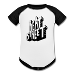 Beat Street Baseball Baby Bodysuit - white/black