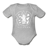 Bad Boy Organic Short Sleeve Baby Bodysuit - heather gray