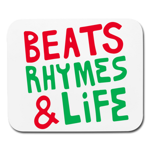 Beats Rhymes Mouse pad Horizontal - white