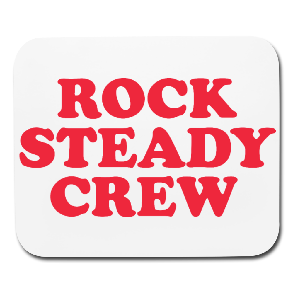Rock Steady Mouse pad Horizontal - white