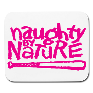 Naughty By Nature Mouse pad Horizontal - white