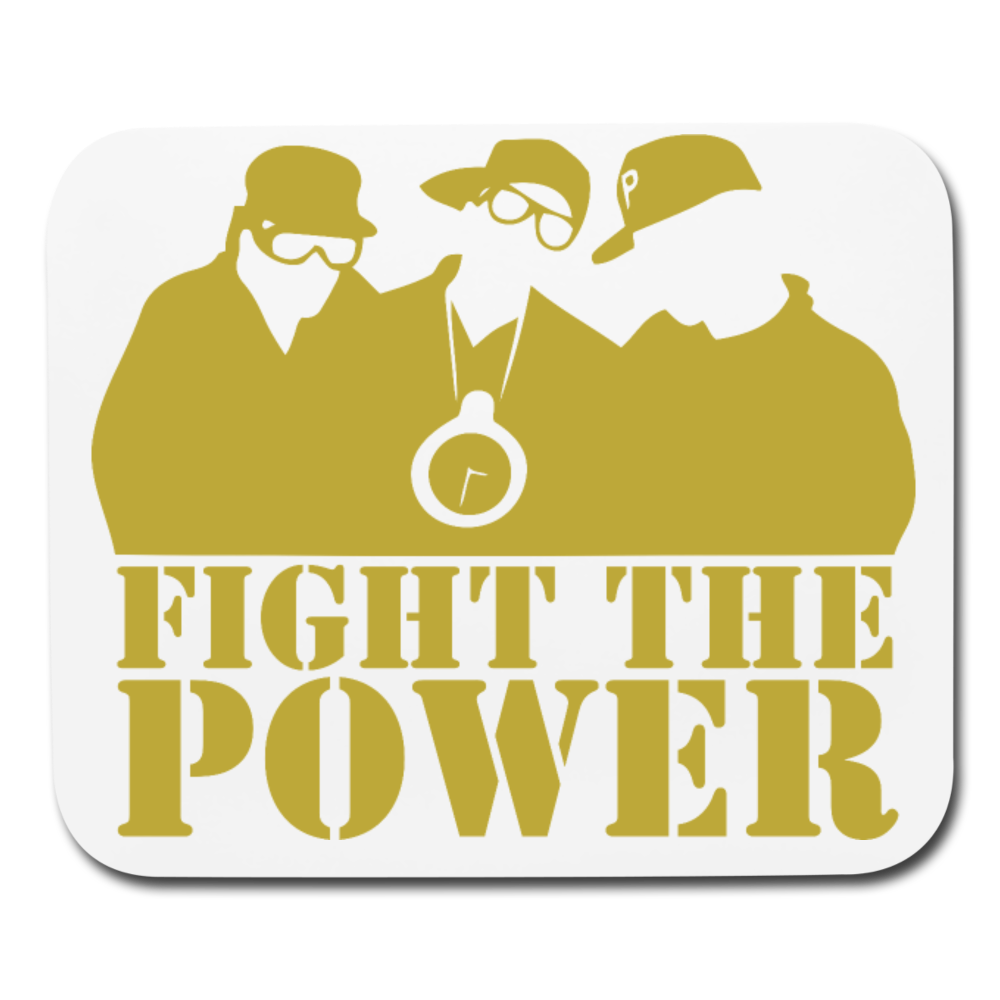 Fight the Power Mouse pad Horizontal - white