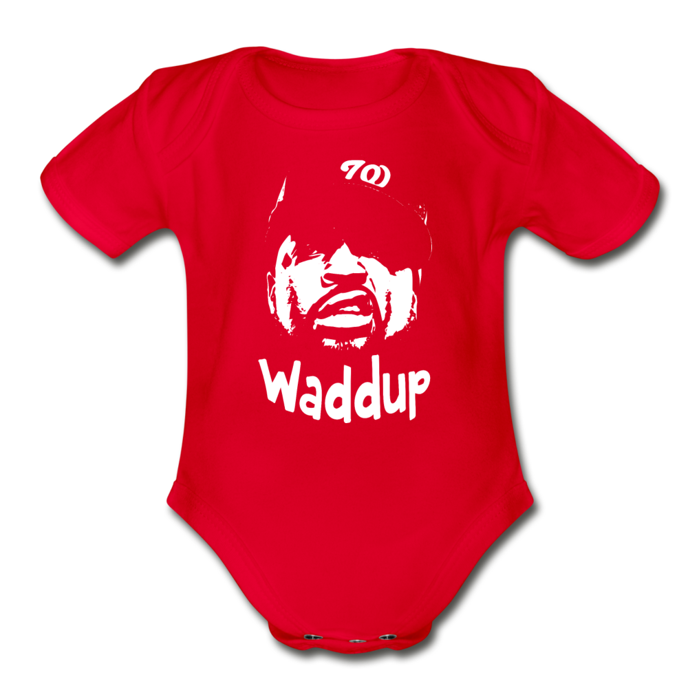 Ice CubecOrganic Short Sleeve Baby Bodysuit - red