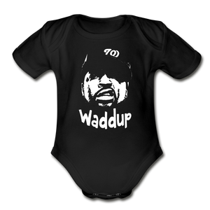 Ice CubecOrganic Short Sleeve Baby Bodysuit - black