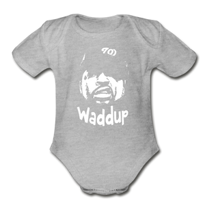 Ice CubecOrganic Short Sleeve Baby Bodysuit - heather gray