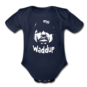 Ice CubecOrganic Short Sleeve Baby Bodysuit - dark navy