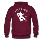 Bust A Move Hoodie - burgundy