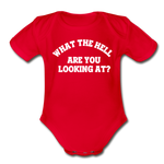 Organic Short Sleeve Baby Bodysuit - red