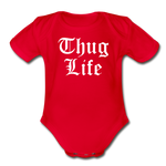Thug Life Baby Bodysuit - red