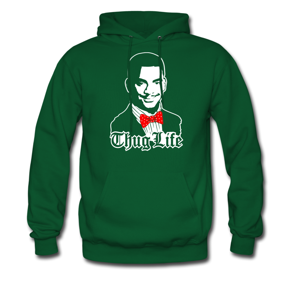 Thug Life Hoodie - forest green