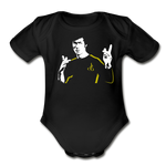 Bruce Lee Organic Short Sleeve Baby Bodysuit - black