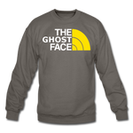 The Ghost Face Crewneck Sweatshirt - asphalt gray