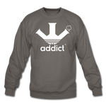 Addict Crewneck Sweatshirt - asphalt gray