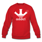 Addict Crewneck Sweatshirt - red