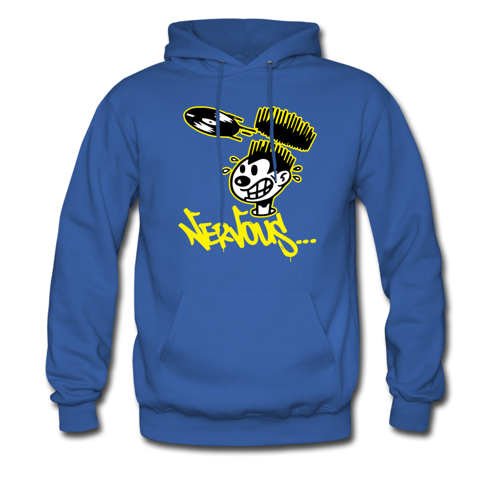 Nervous Records Hoodie - royal blue