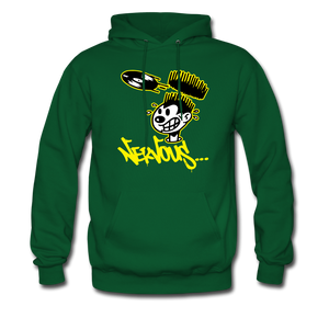Nervous Records Hoodie - forest green