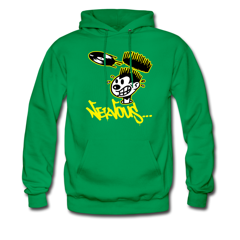 Nervous Records Hoodie - kelly green