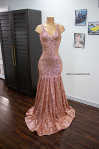 Blush Sequin Dress