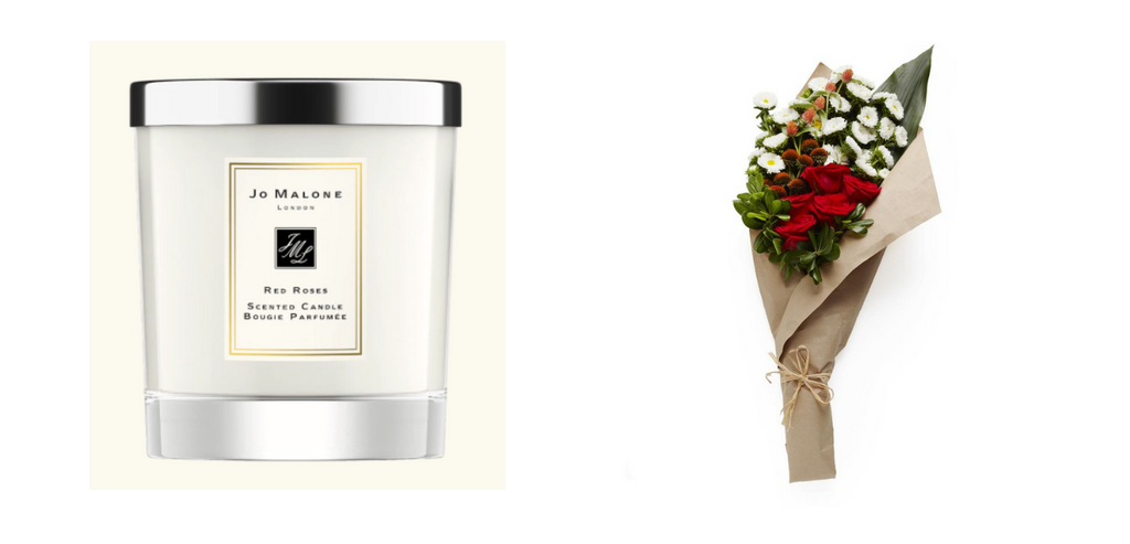 Jo Malone Candle and Red and White Bundle